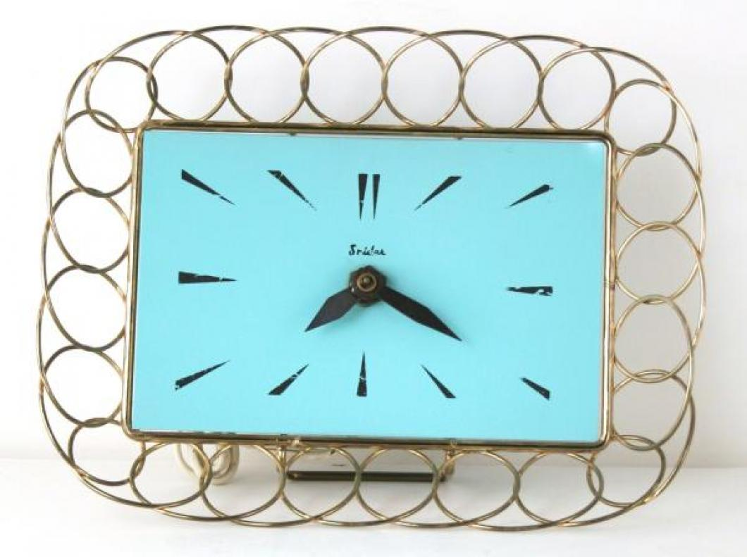 Snider blue rectangle wall clock