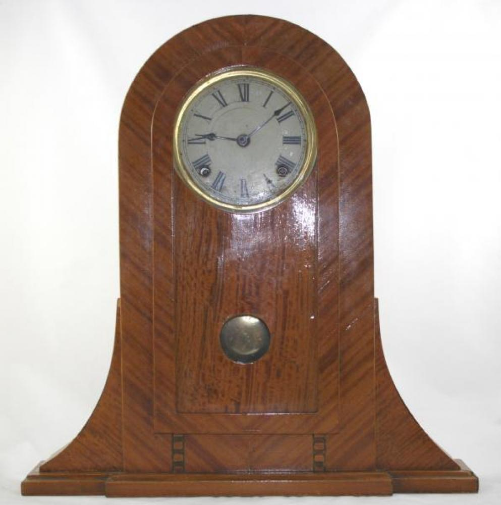 """Homemade"" mantel clock case with Pequegnat movement"