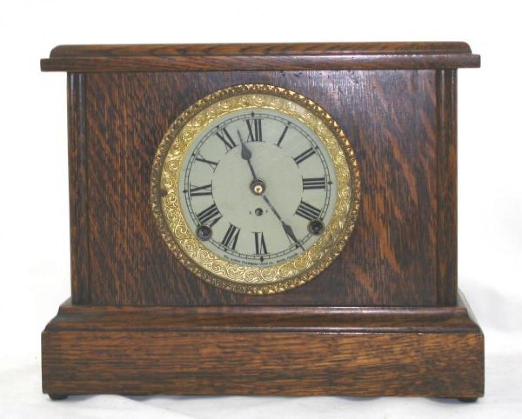 """Pequegnat """"Bijou"""" model mantel clock - roman numeral dial"""