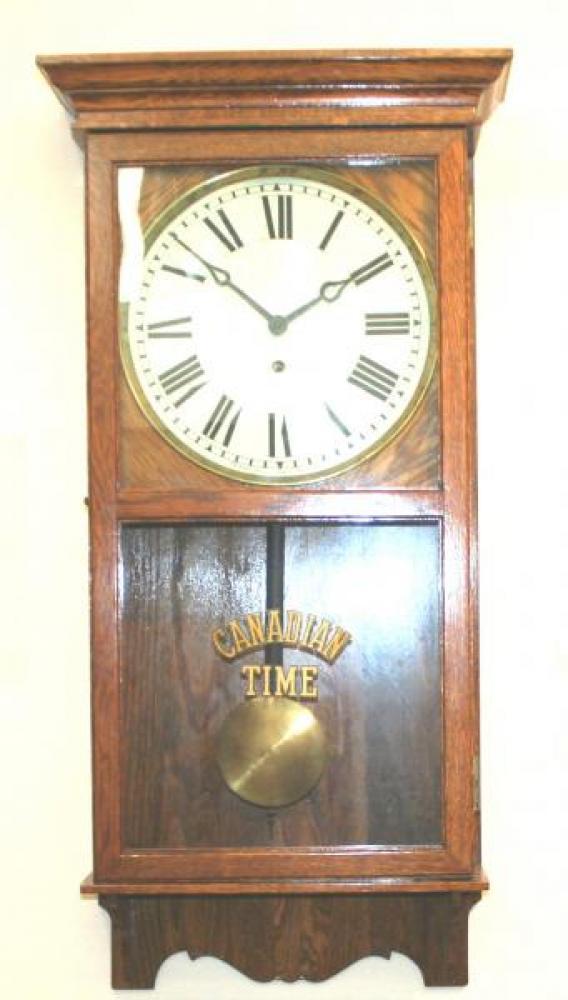 """Pequegnat """"Canadian Time"""" model wall clock"""