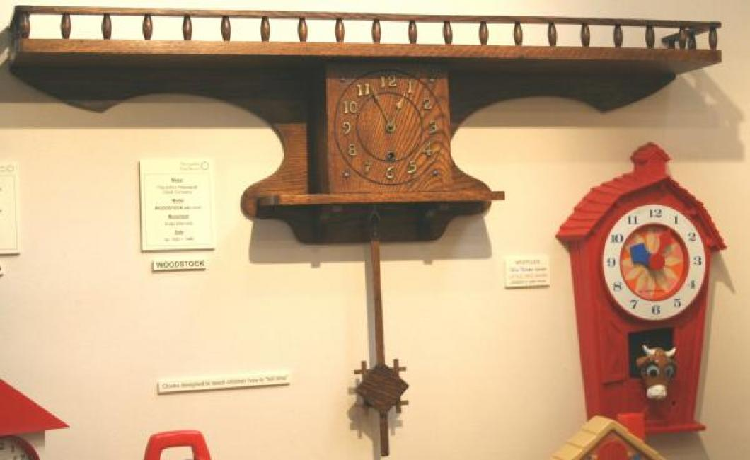 """Pequegnat """"Woodstock"""" model wall clock - shown here in our display"""