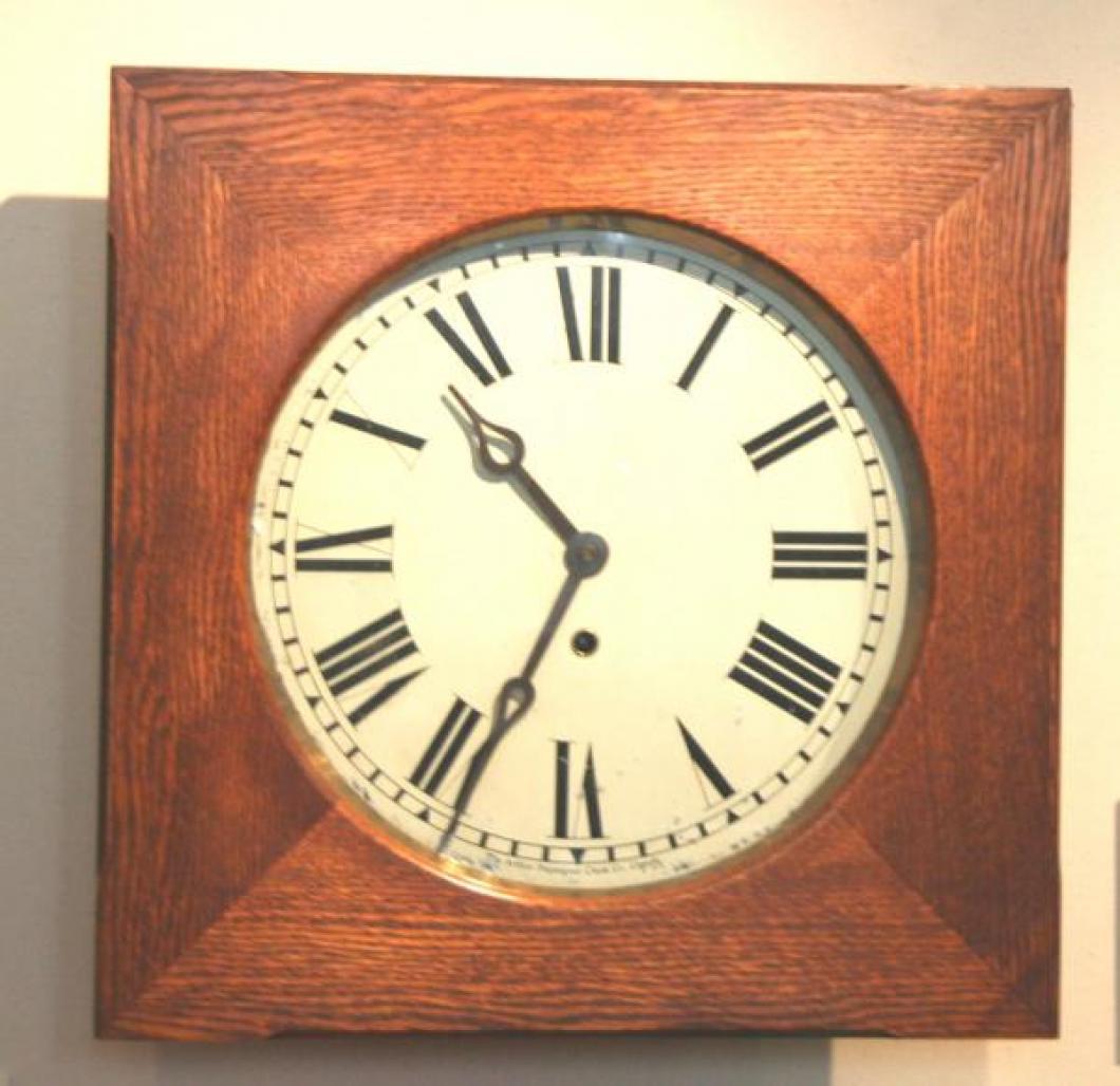 """Pequegnat """"York"""" model wall clock - roman numeral dial"""