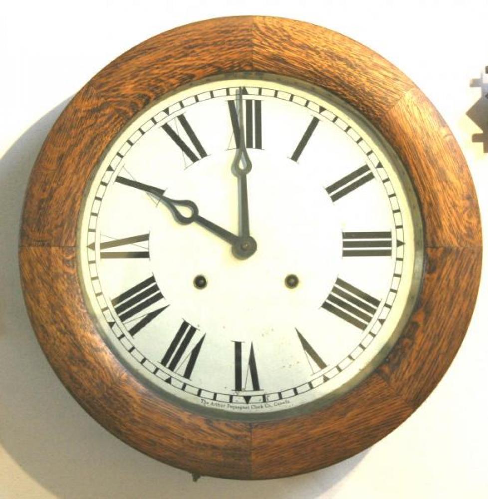 """Pequegnat """"Toronto"""" model wall clock - roman numeral dial"""
