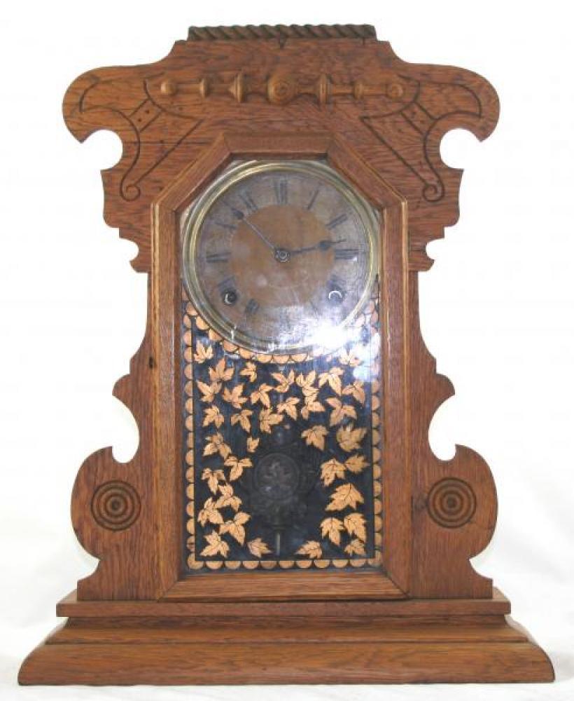 "Pequegnat ""Maple Leaf Kitchen"" model mantel clock"