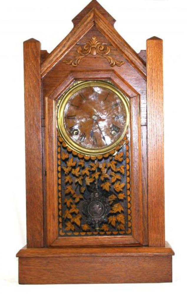 "Pequegnat ""Maple Leaf Kitchen"" model mantel clock"