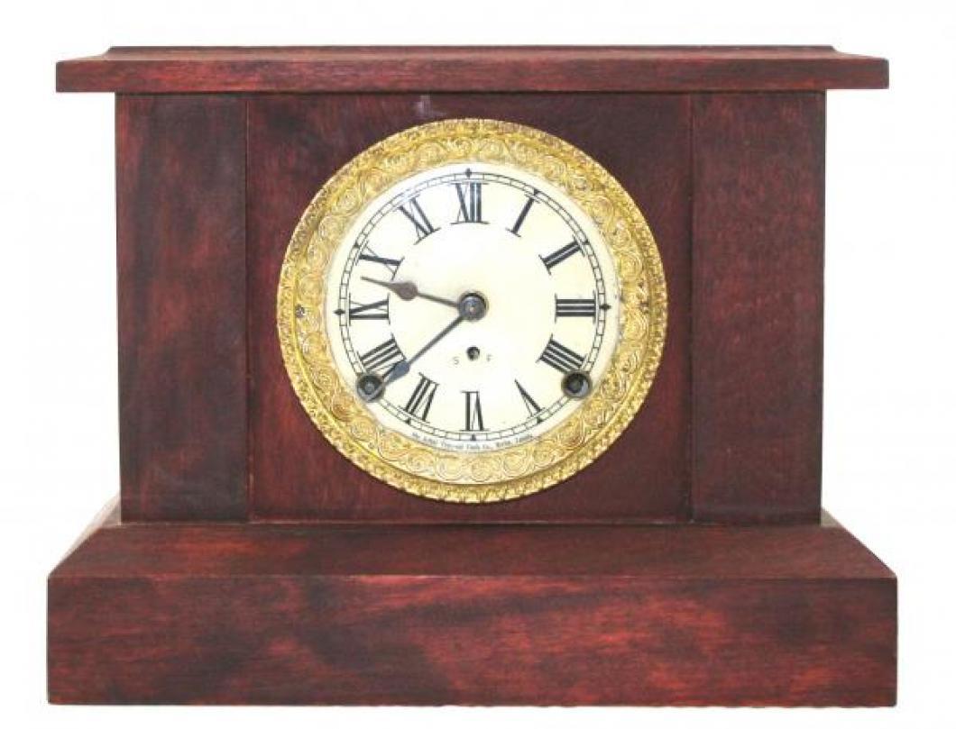 """Pequegnat """"Jewel"""" model mantel clock - roman numeral dial"""