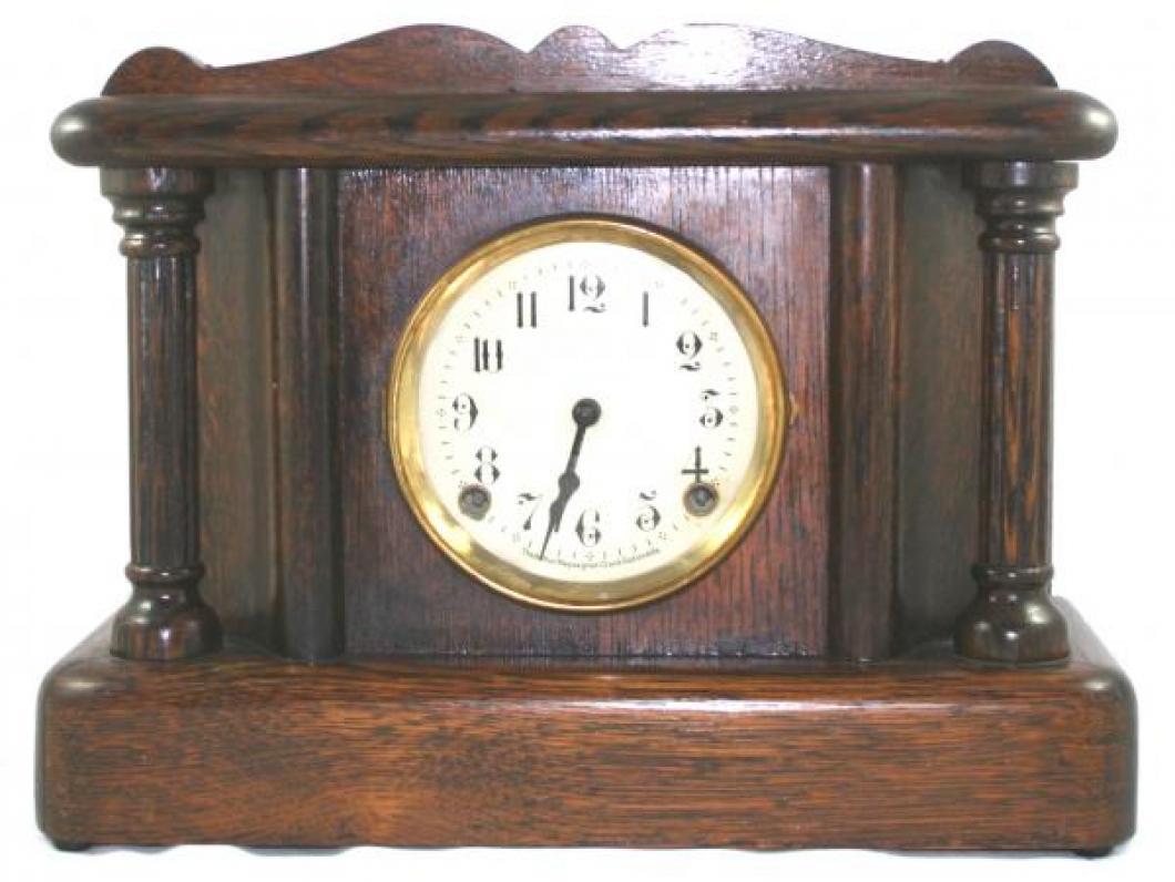 """Pequegnat """"Hamilton"""" model mantel clock - shorter"""