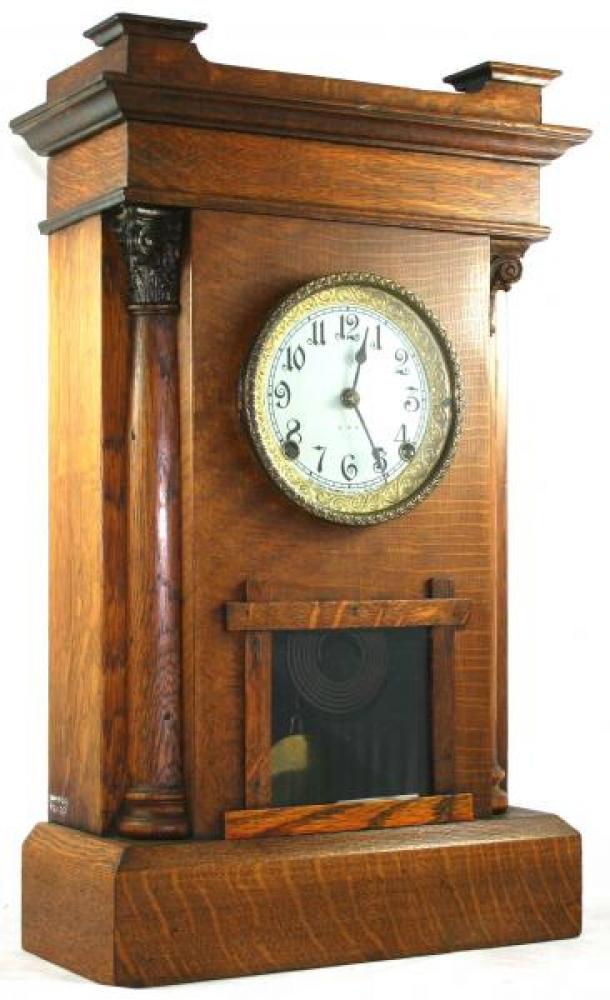 """Pequegnat """"Hamilton"""" model mantel clock - taller"""