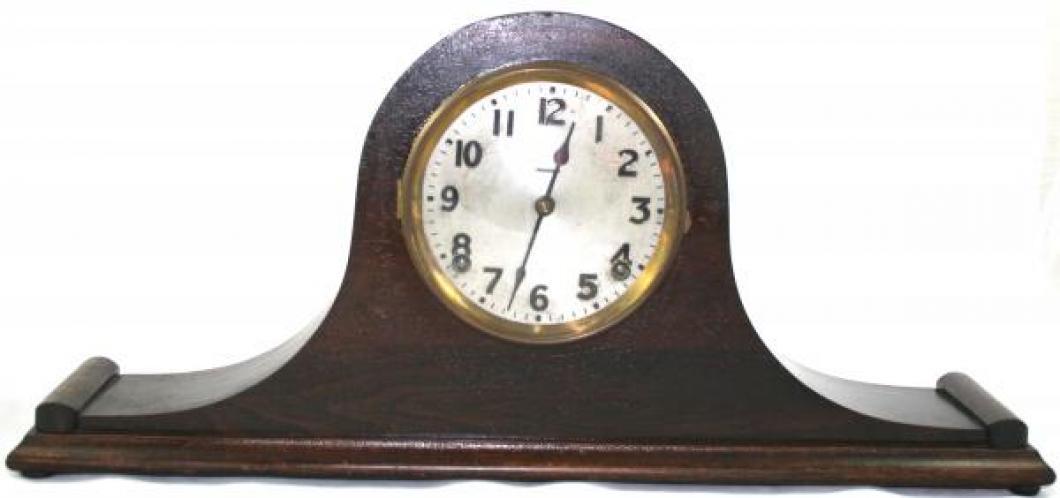 """Pequegnat """"Essex"""" model mantel clock - metal face"""