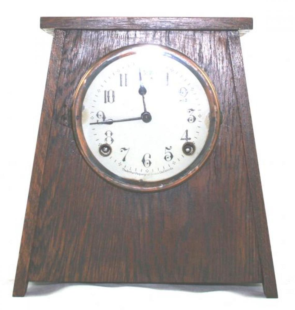 """Pequegnat """"Bonnie"""" model mantel clock - narrow"""