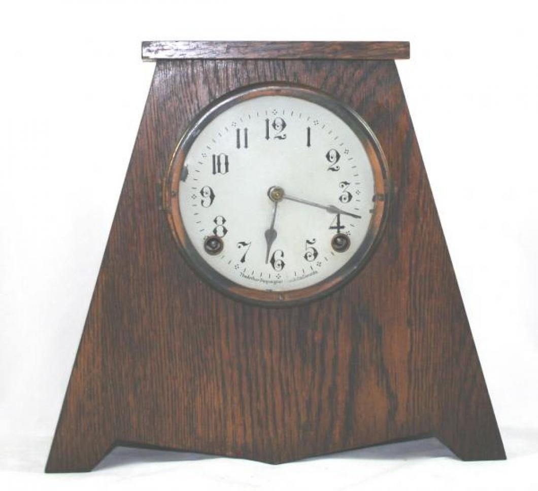 """Pequegnat """"Bonnie"""" model mantel clock - wide"""