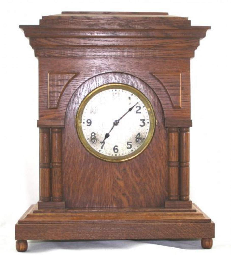 """Pequegnat """"Victoria"""" model mantel clock - metal face"""