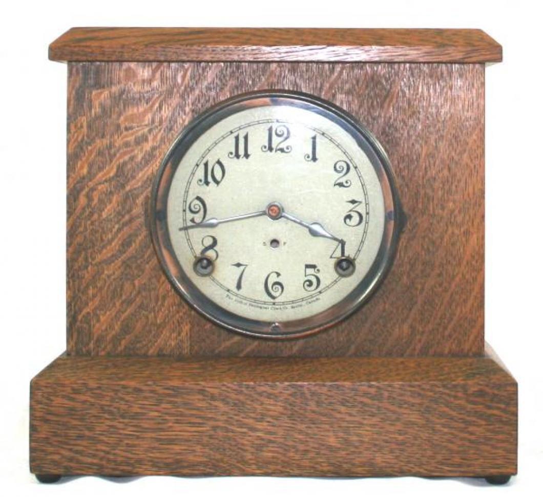 """Pequegnat """"Soo"""" model mantel clock"""
