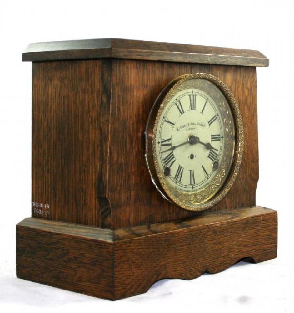 """Pequegnat """"Soo"""" model mantel clock - roman numeral dial"""