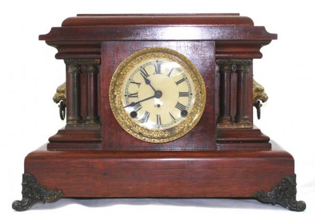 "Pequegnat ""Ontario"" model mantel clock - roman numeral dial"