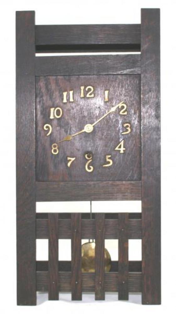 "Pequegnat ""Midget"" model mantel clock - mission style dial"