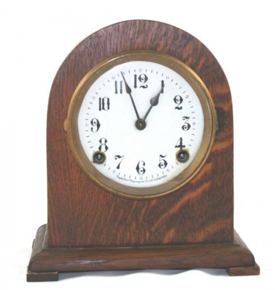 "Pequegnat ""Bedford"" model mantel clock - white face"