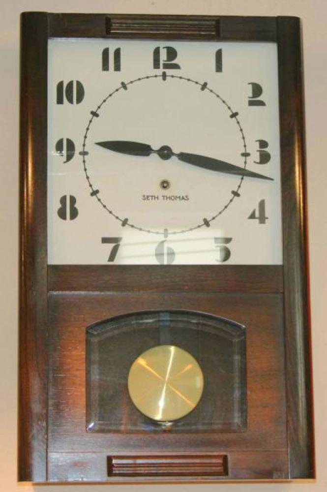 Seth Thomas pendulum wall clock (spring-driven, model name?)