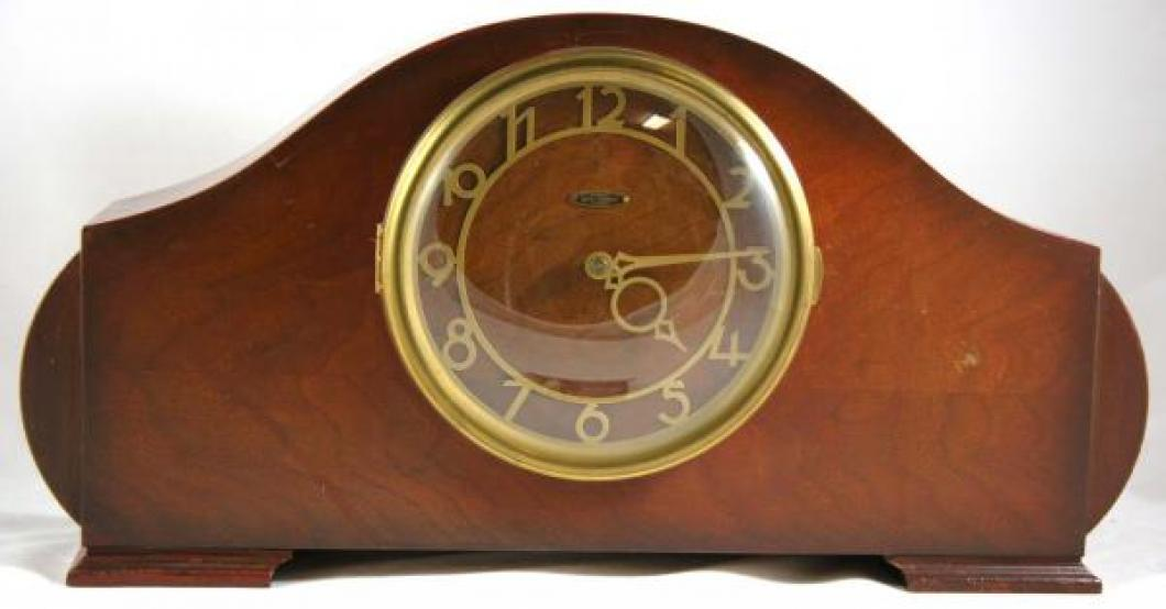 "Seth Thomas BRISTOL model mantel clock (electric motor, ""ships bells"" chimes on quarter hours)"