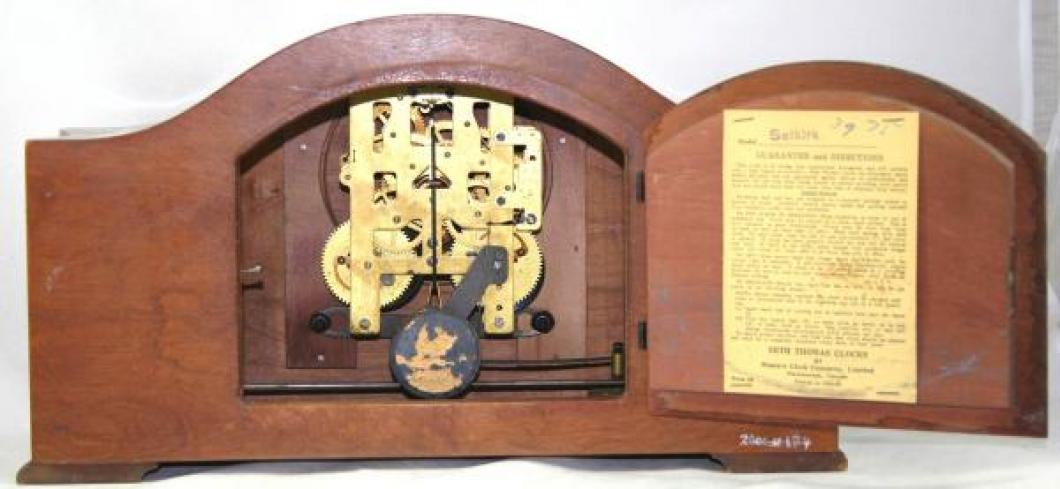 Seth Thomas SELKIRK model mantel clock MOVEMENT & LABEL