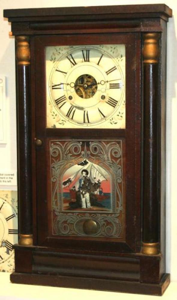 A.H. Brown, Leeds County, Canada West 1856 - 1867 Half-column mantel clock