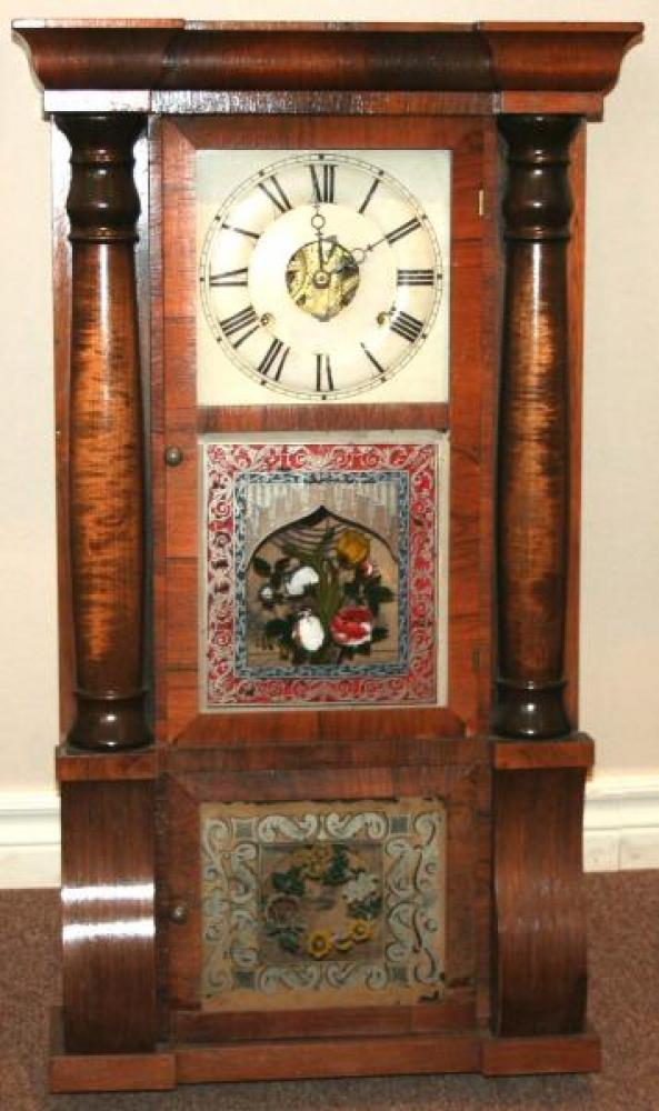 D. Savage, Guelph, Canada West 1848 - mid 1850s Column & cornice mantel clock