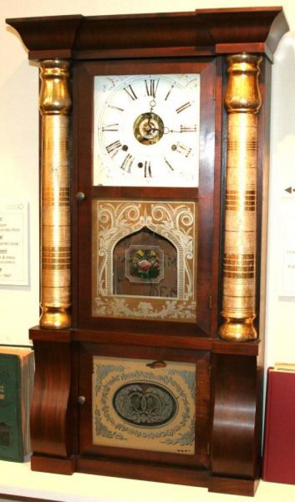 R.W. Patterson Toronto, Canada West 1850 - 1860 column & cornice mantel clock