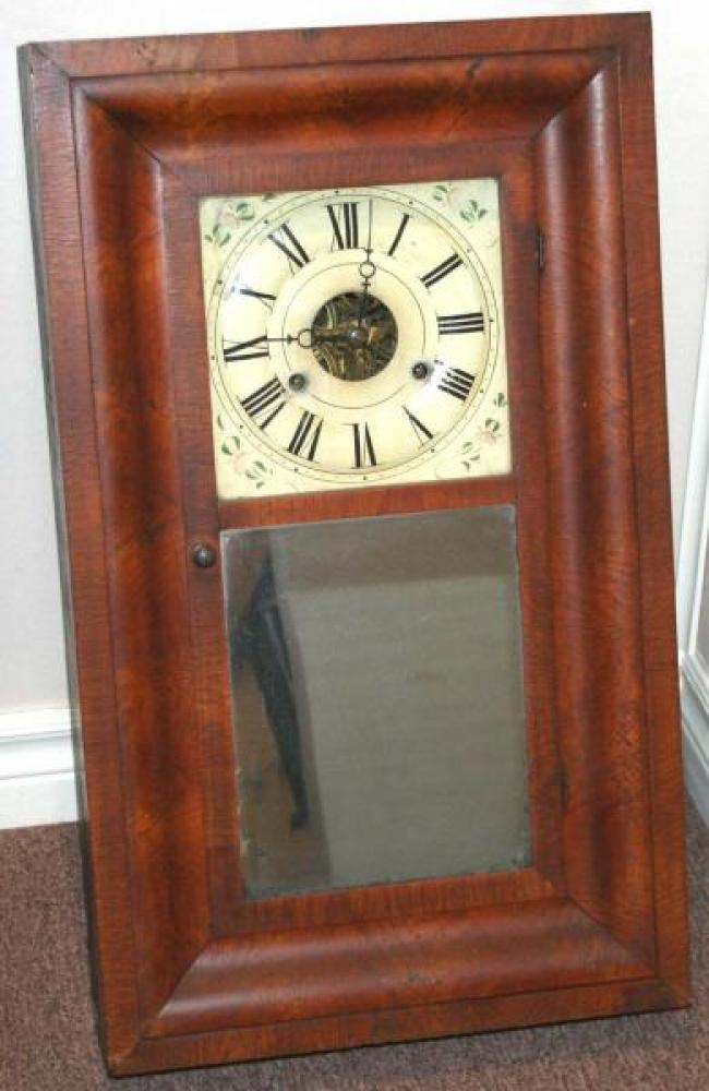 T.L. Abel, Leeds County, Canada West 1848 - 1851 Ogee-style mantel clock