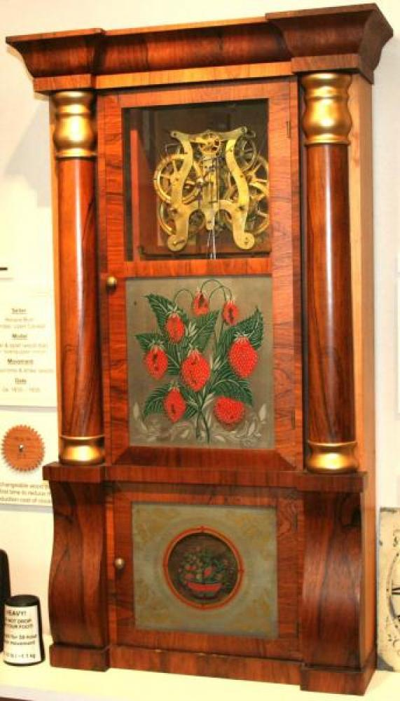 W.H. Van Tassel, Brockville, Canada West 1850s - 1860s column & cornice mantel clock