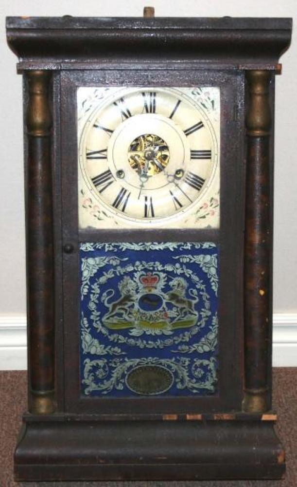 W.H. Van Tassel, Brockville, Canada West 1850s - 1860s Half-column mantel clock