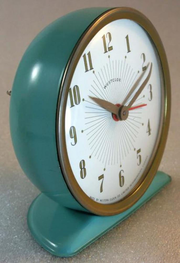 Westclox 1950s America  Alarm clock (Side view)