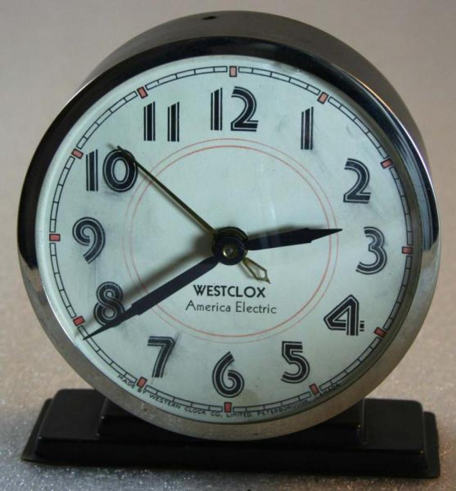 Westclox 1930s America Electric  Alarm Clock