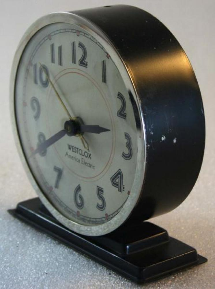 Westclox 1930s America Electric  Alarm Clock (Side View)
