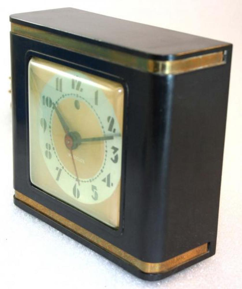 Westclox 1930s Bachelor  Alarm Clock (Side View)