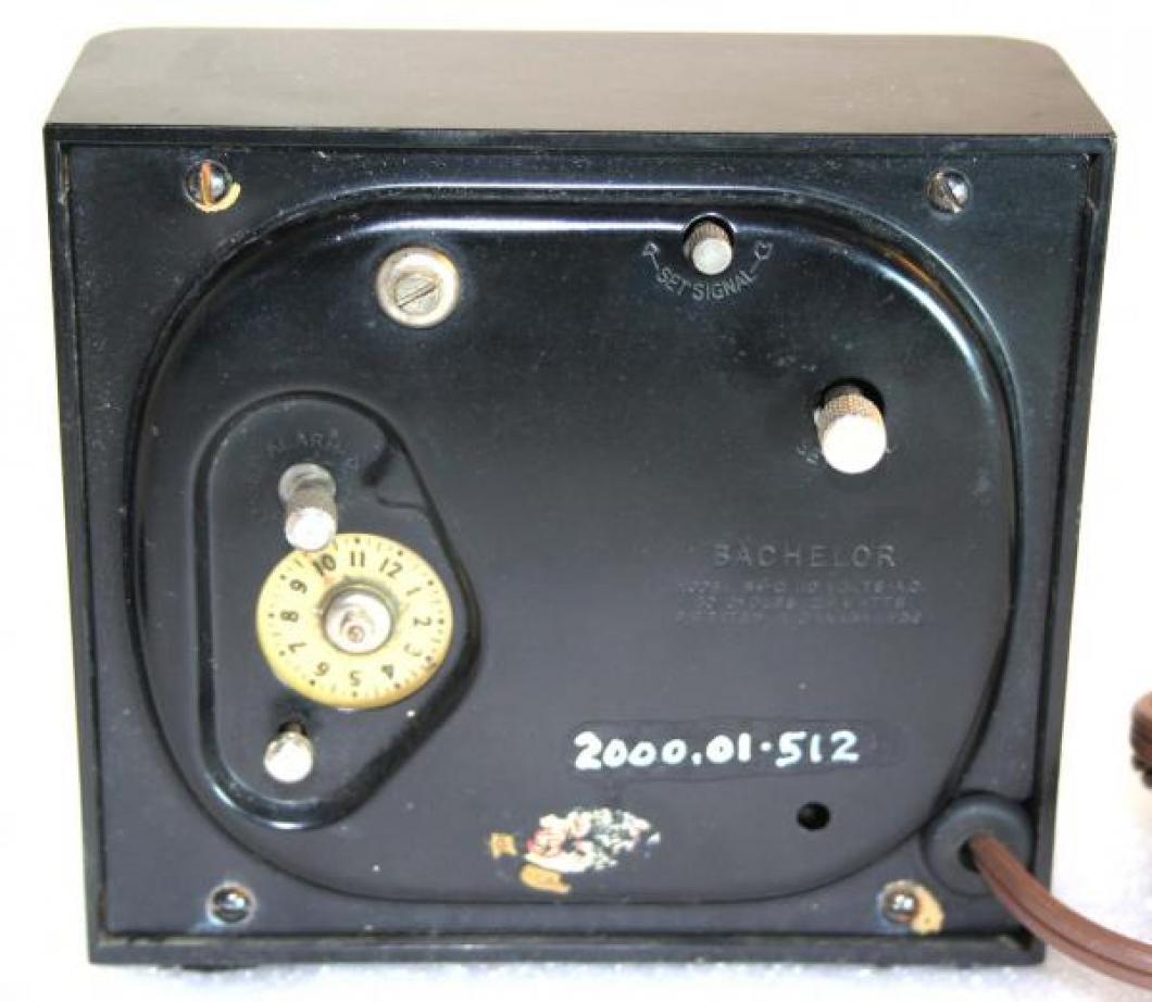 Westclox 1930s Bachelor  Alarm Clock (Backside View)