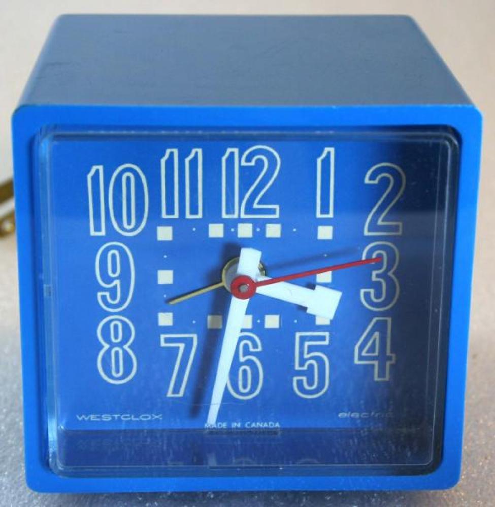 Westclox 1970s Cubette  Alarm Clock