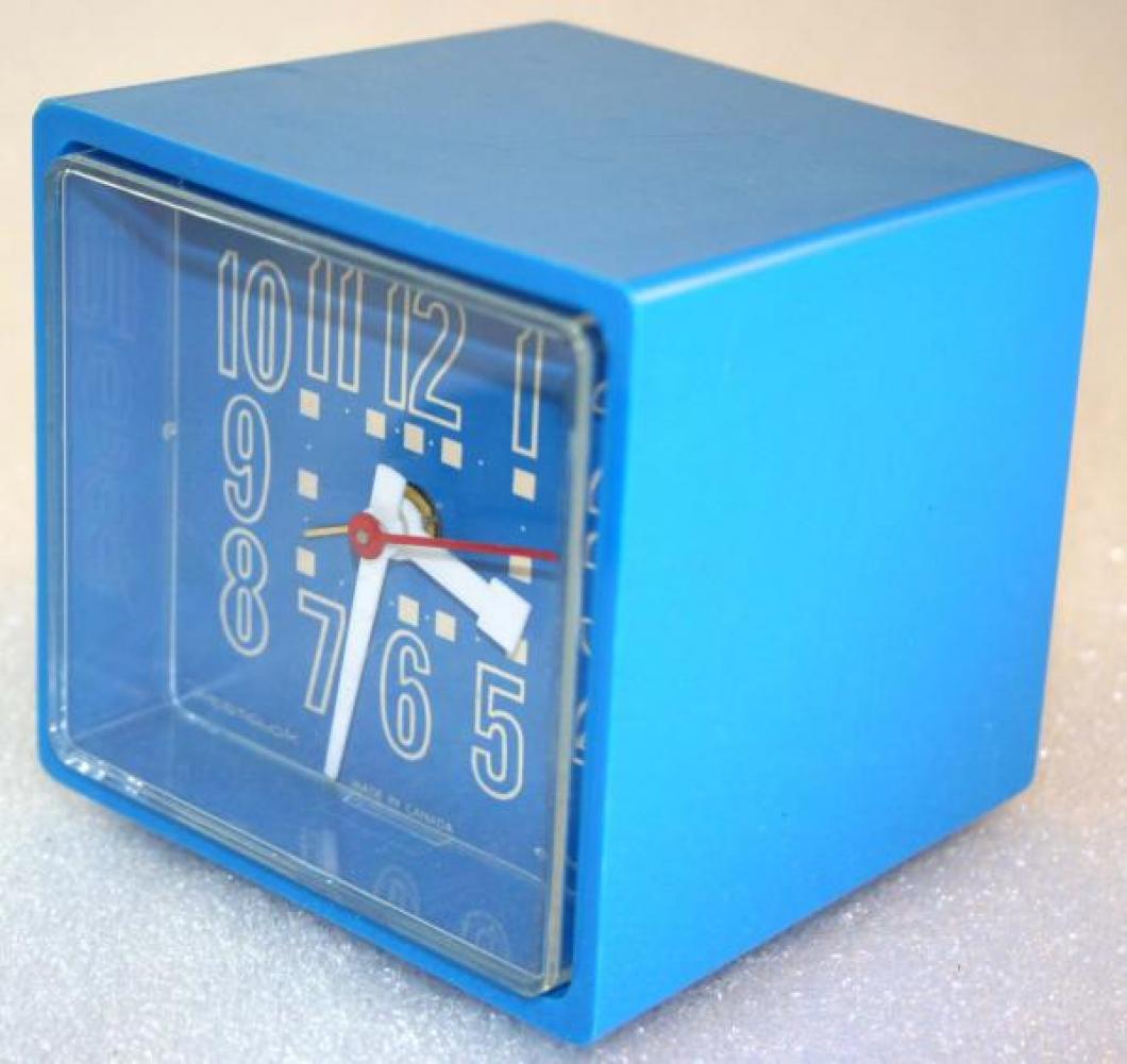 Westclox 1970s Cubette  Alarm Clock (Side View)