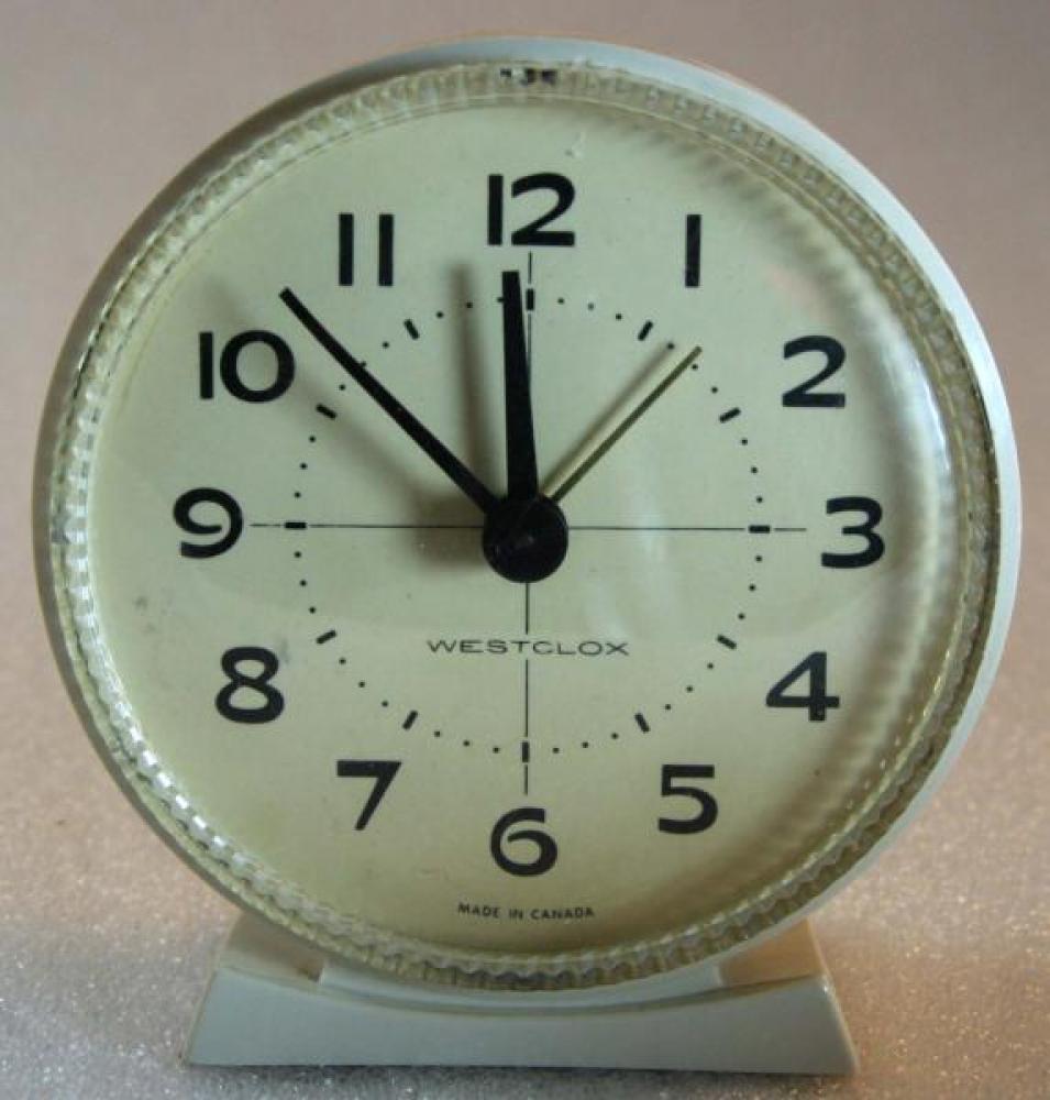 Westclox 1960s Hustler  Alarm Clock