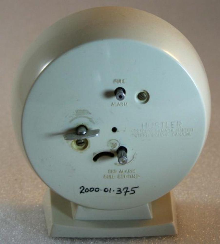 Westclox 1960s Hustler  Alarm Clock (Backside View)