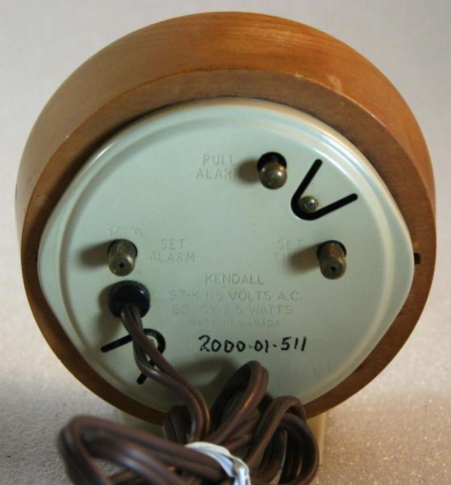 Westclox 1950s Kendall Alarm Clock (Backside View)