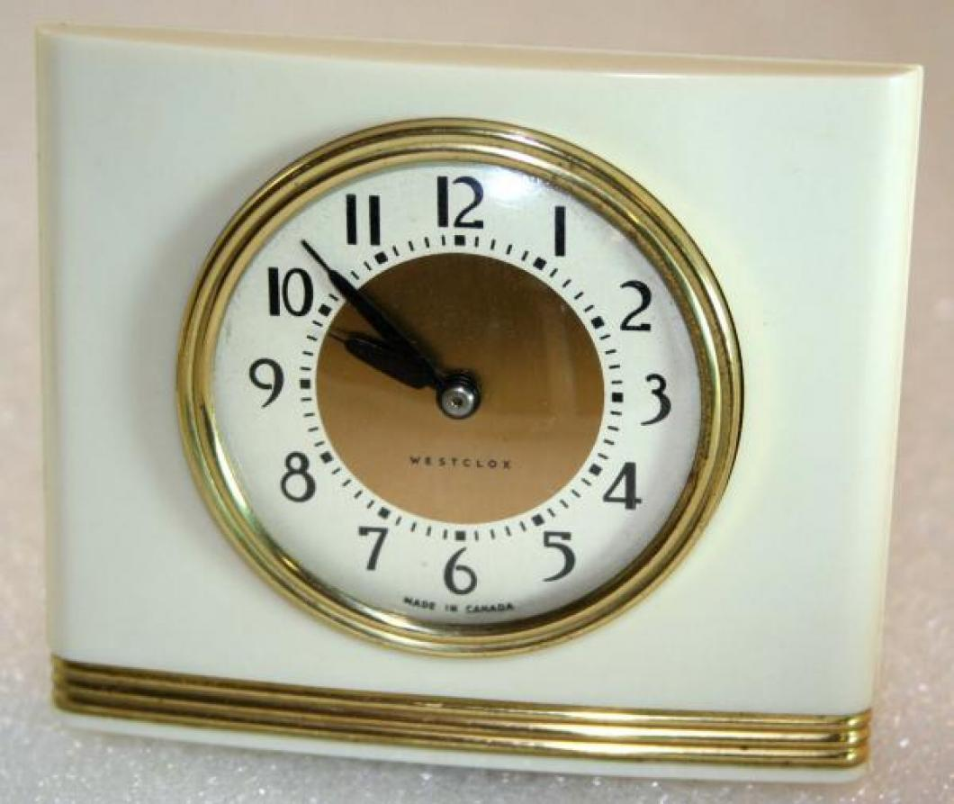 Westclox 1940s La Sallita Alarm Clock