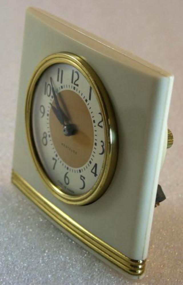 Westclox 1940s La Sallita  Alarm Clock (Side View)
