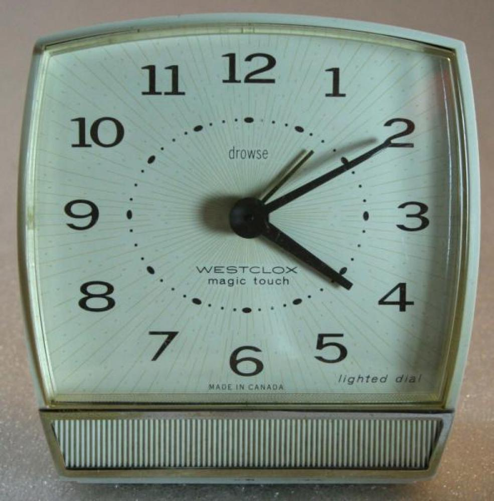 Westclox 1960s Magic Touch  Alarm Clock