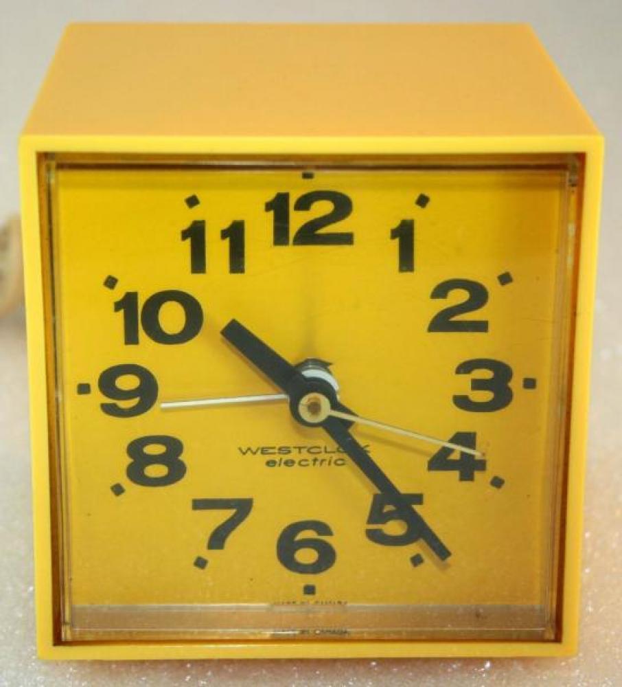 Westclox 1970s MiniCube  Alarm Clock