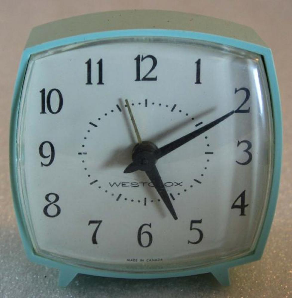 Westclox 1970s Nap  Alarm Clock (BLUE)