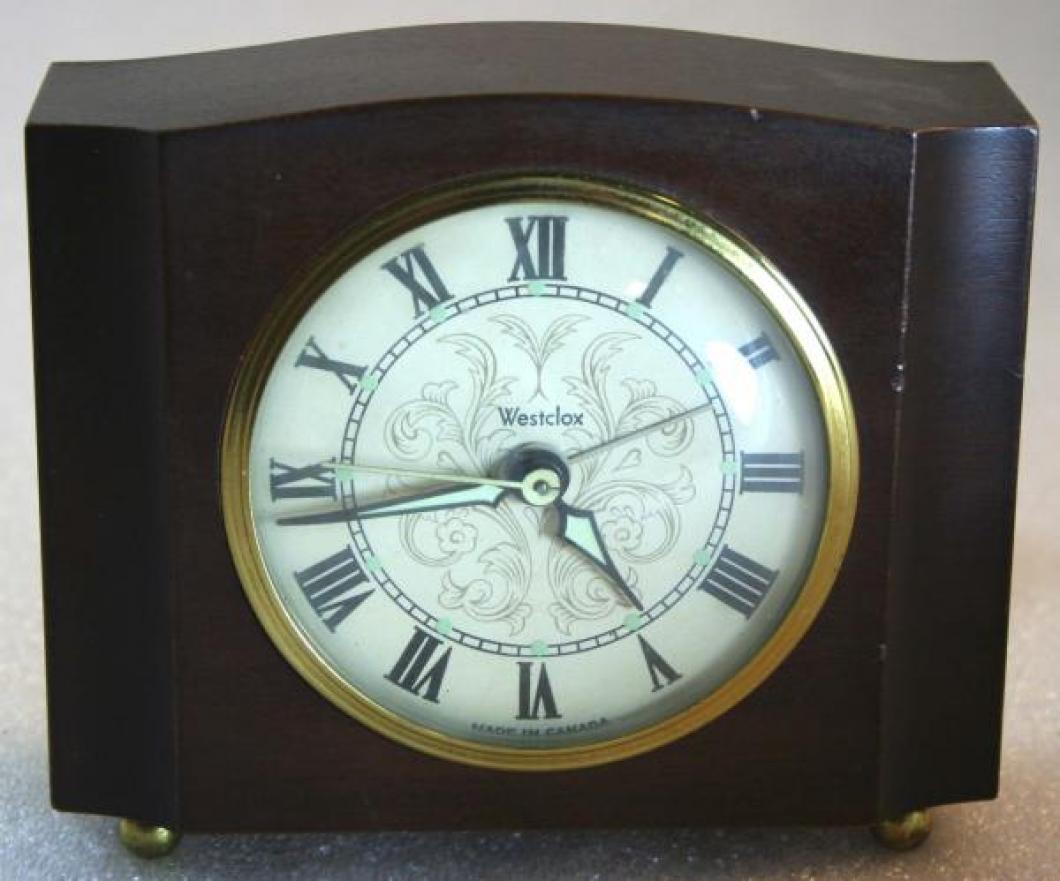 Westclox 1950s Sheraton  Alarm Clock