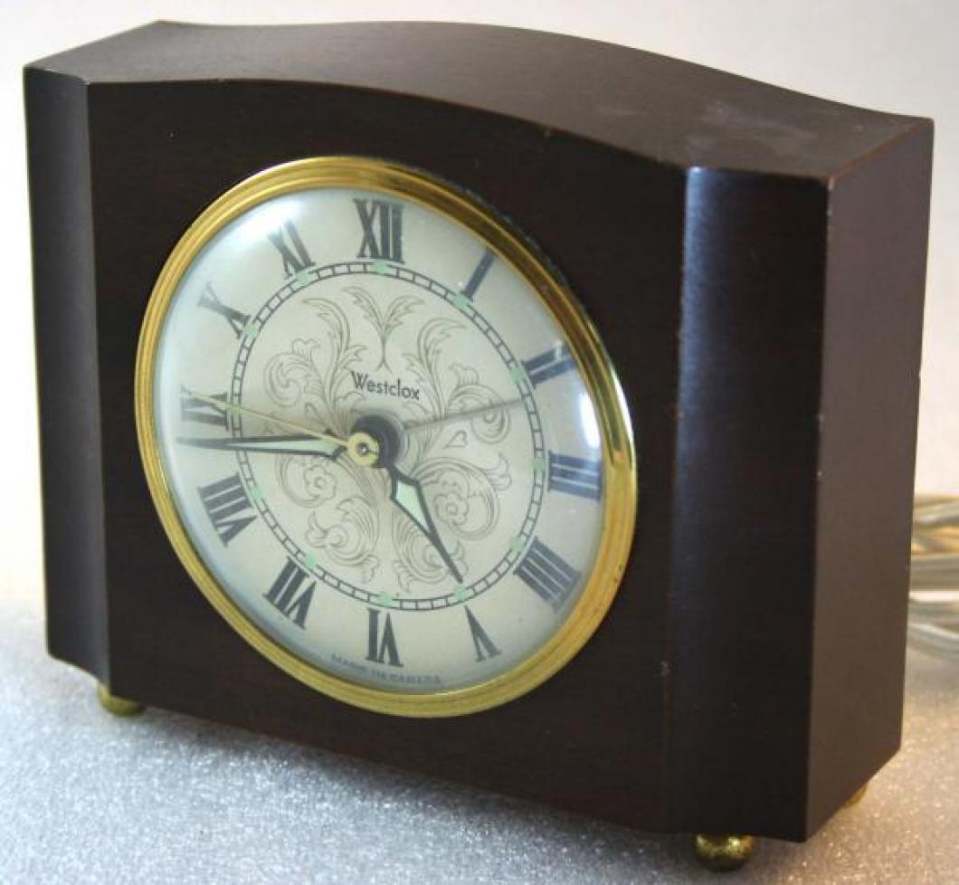 Westclox 1950s Sheraton  Alarm Clock (Side View)
