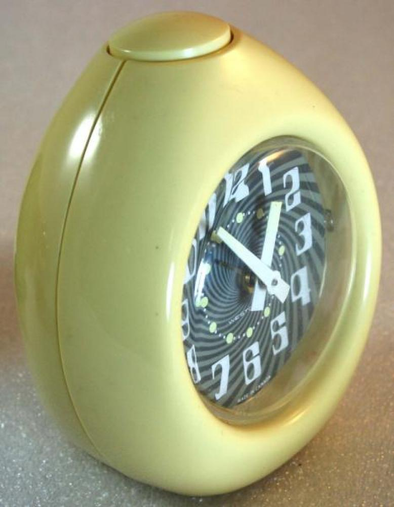 Westclox 1970s (Egg) Alarm Clock (Side View)