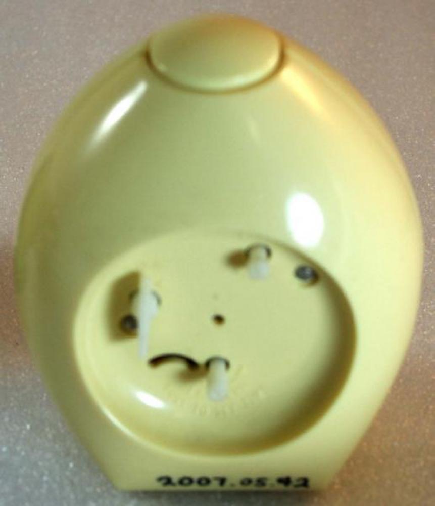 Westclox 1970s (Egg) Alarm Clock (Backside View)