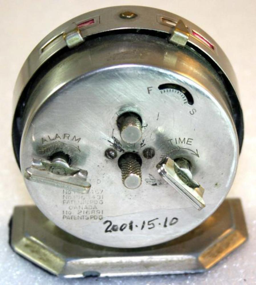 Westclox 1920s Baby Ben Alarm Clock (Backside View)